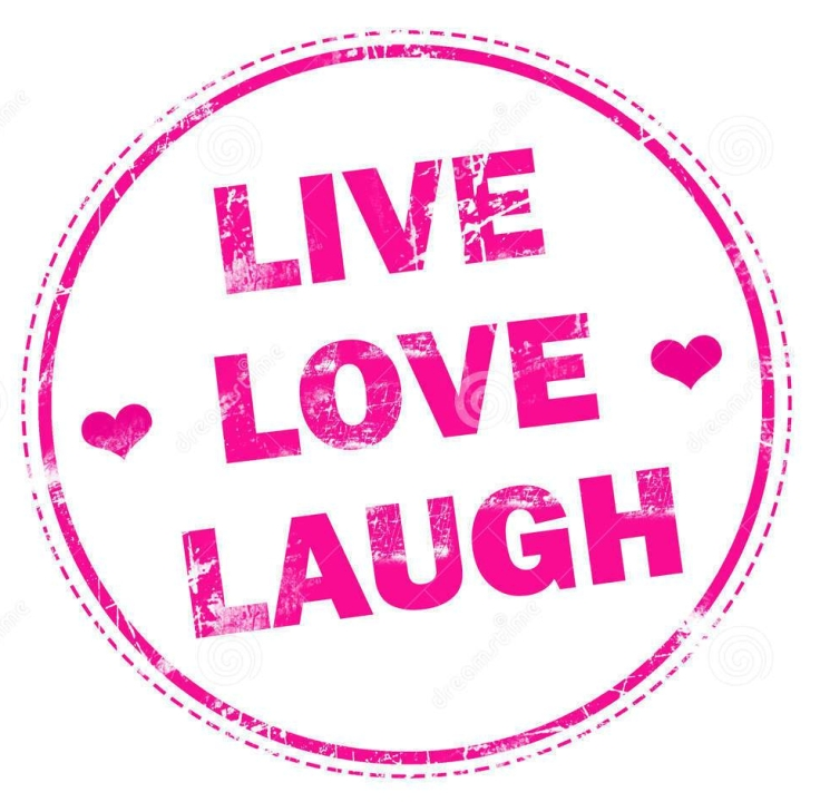 live-love-laugh-en-sello-de-goma-rosado-del-grunge-67265958